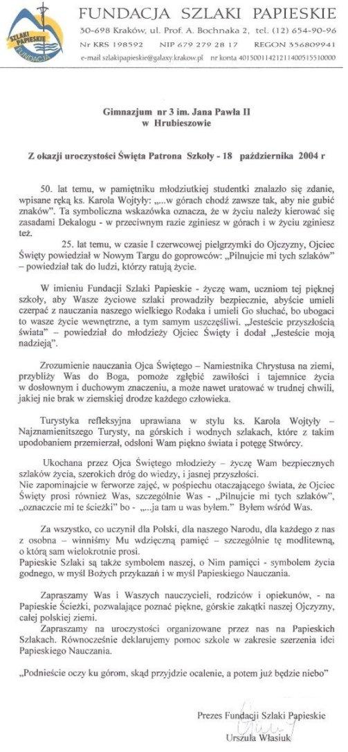 Gimnazjum Nr 3 Im Jana Pawła Ii Artykuły